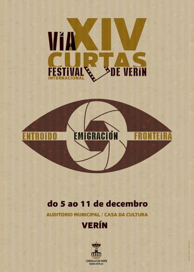 Cartaz oficial do Festival Internacional de Curtas de Verín, deseñado por Jorge Godás.