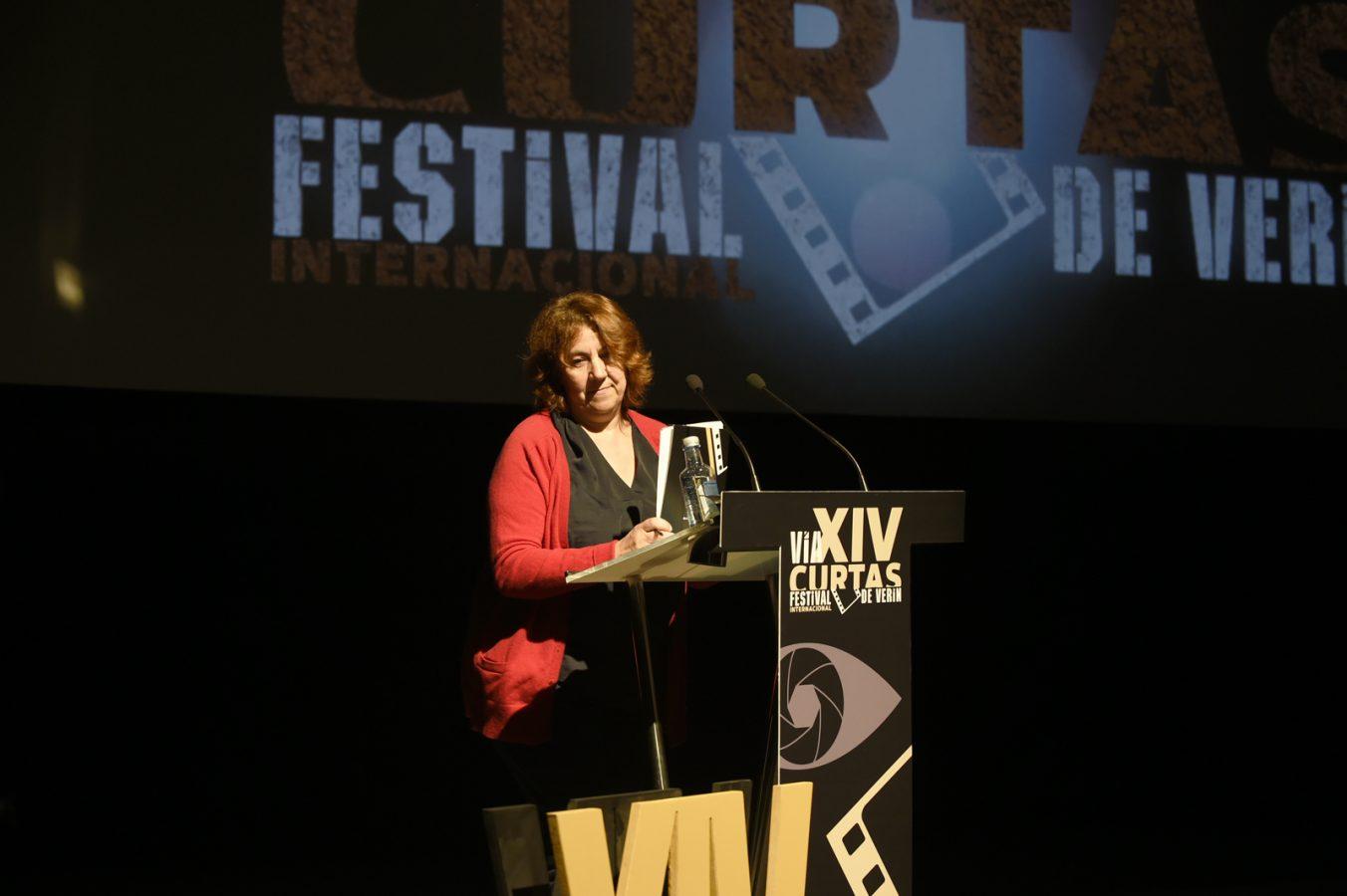 A concelleira de Cultura e coordinadora do FIC Verín, Emilia Somoza. /Foto: Carlos G. Hervella.