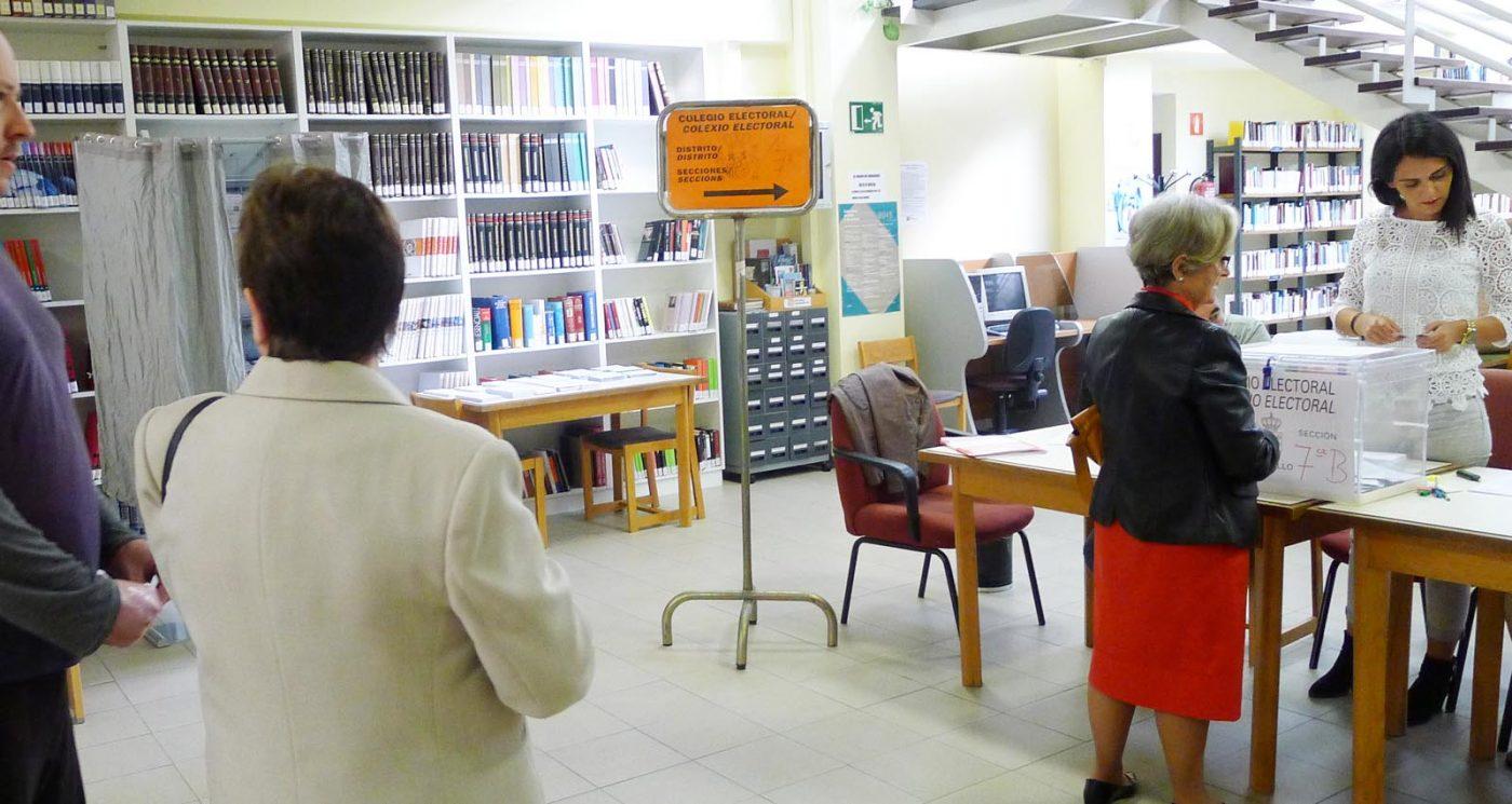 Votacións no Barco./ Foto: A.R.