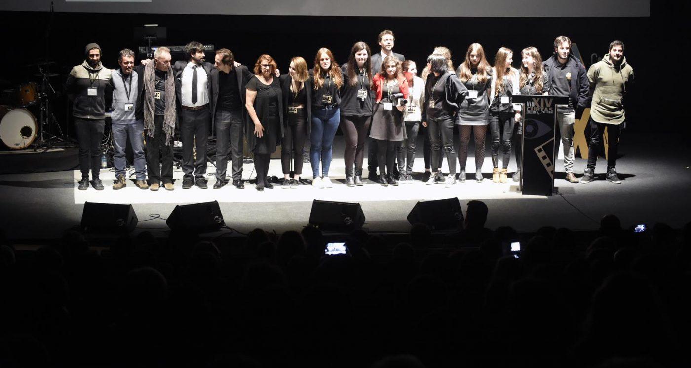 Organizadores e voluntarios que fixeron posible a I edición do Festival Internacional de Curtas de Verín.