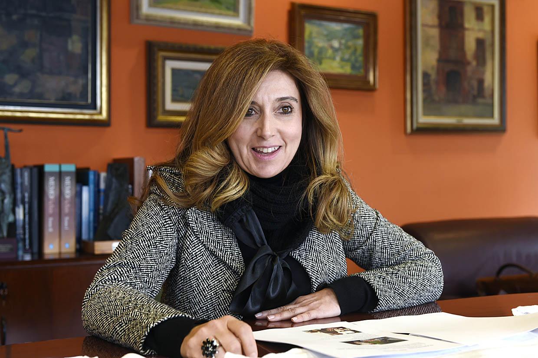 A concelleira de Cultura do Barco, Margarida Pizcueta, na presentación da XVII Festa do Botelo.