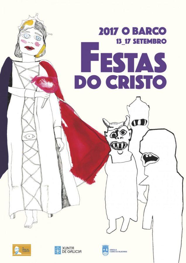 Cartel das Festas do Cristo 2017, obra de Reme Remedios.