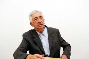 Luis Arias, na entrevista./ Foto: Carlos G. Hervella
