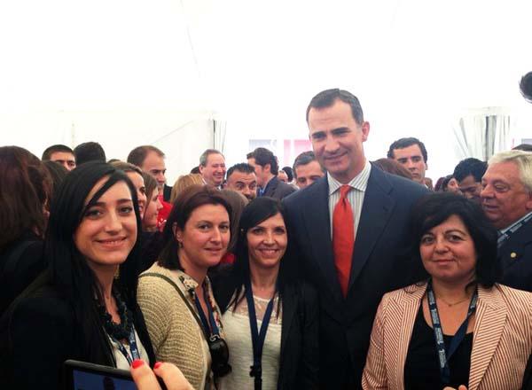 Photo of A delegación ourensá do viveiro de empresas, co príncipe Felipe