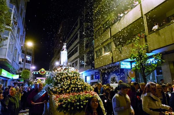 Procesión da Virxe de Fátima na cidade de Ourense./ Foto: Carlos G. Hervella