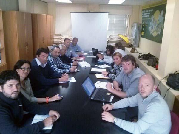 Imaxe da reunión da Rede Estatal do Castiñeiro en Madrid.