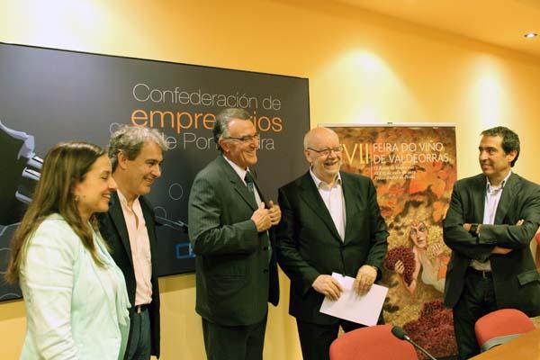 De esquerda á dereita, Marta Iglesias, José Luis García Pando, Afredo García Rodríguez, Luis Novoa e César Sánchez, no acto.