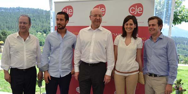 Un dos momentos do I Encontro de Xóvenes Empresarios de Ourense.