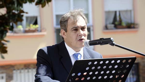 O presidente do CRDO Valdeorras, no acto inaugural da feira./ Foto: Carlos G. Hervella