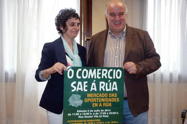 """Acto de presentación de """"O comercio sae á rúa""""./ Foto: Mónica G. Bellver"""