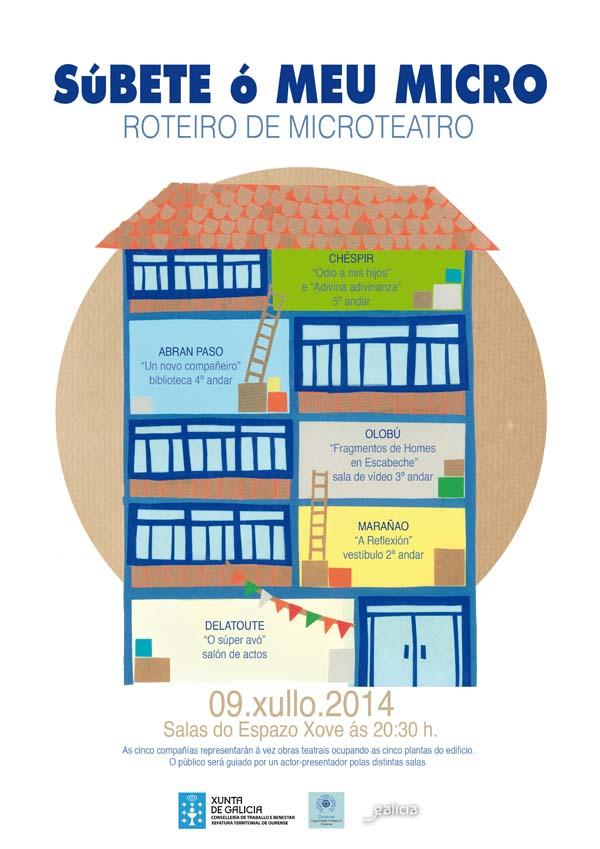 Cartaz desta actividade na Casa da Xuventude de Ourense.