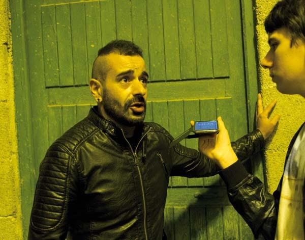 Belo, líder da banda asturiana, entrevistado por Miguel/Foto: Carlos G. Hervella