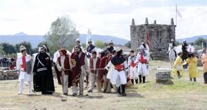 Loita entre mouros e cristiáns no campo da Saínza