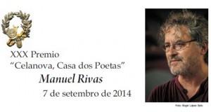 "XXX Premio ""Celanova, Casa dos Poetas"" para Manuel Rivas"