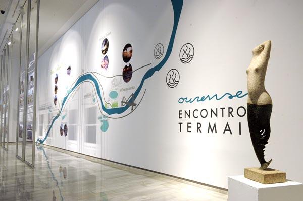 "Exposición ""O arrolo das augas"" no centro municipal José Ángel Valente."