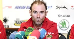 Os líderes da selección española de ciclismo, no Barco