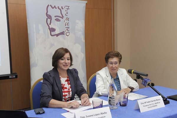 Photo of López Abella, na inauguración do XI Foro da Federación de Mulleres Rurais de Ourense