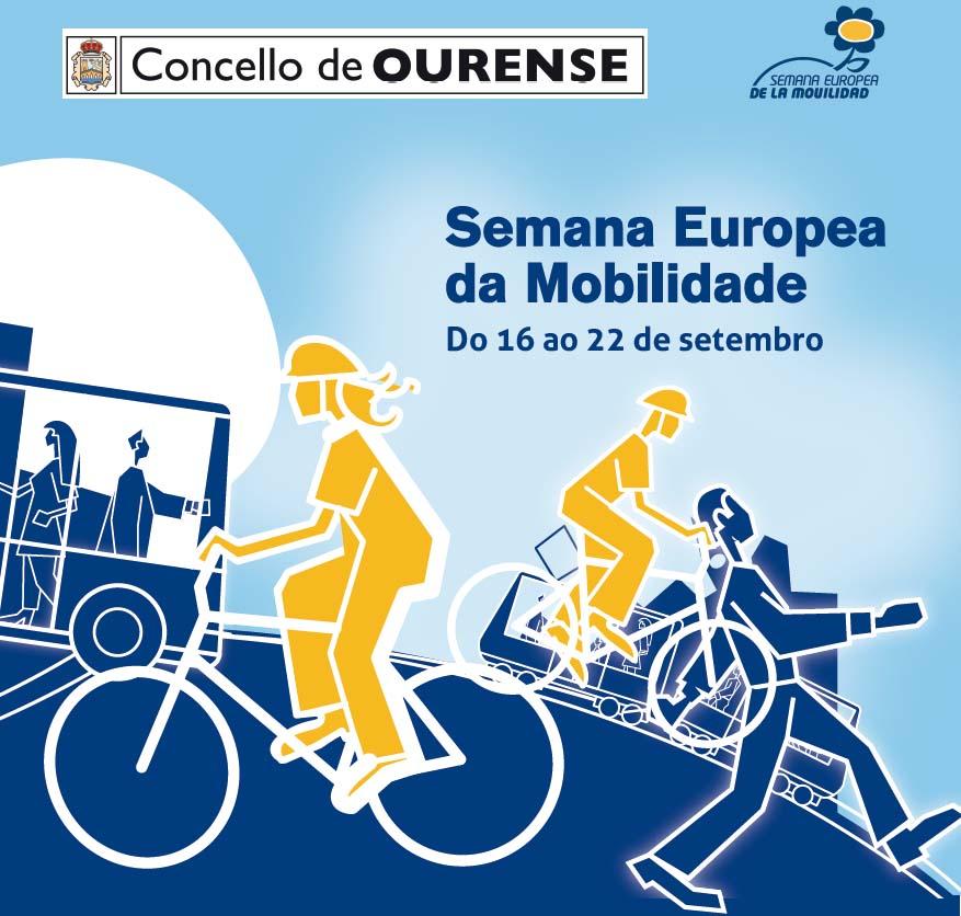 Cartaz da Semana da Mobilidade en Ourense.