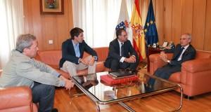 Reunión do subdelegado co xefe de Demarcación de Estradas do Estado en Galicia