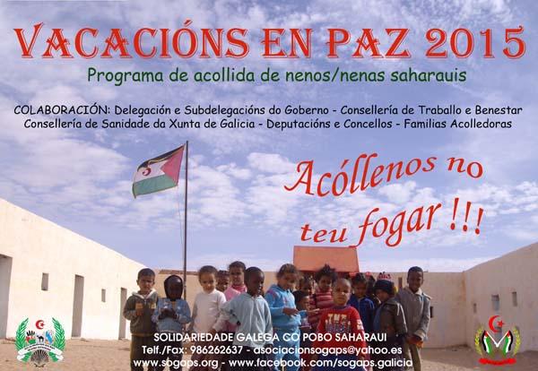 Photo of Vacacións en Paz 2015 para nenos saharauis