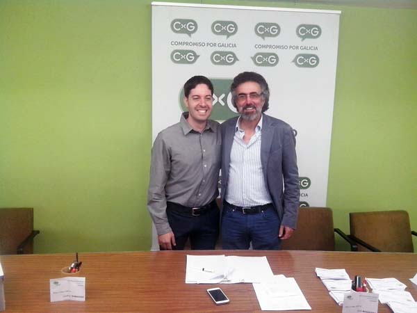 Jonathan Domínguez e Xosé Mosquera (á dereita), os dous candidatos que se presentaron ás primarias.