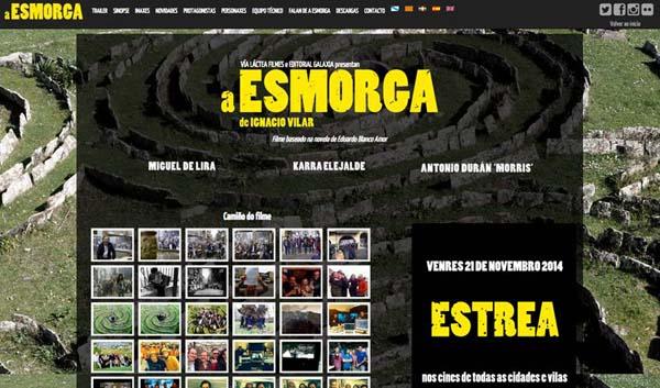 """Imaxe principal da páxina web de """"A Esmorga""""."""