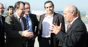 Visita do director xeral de Enexía e Minas ao polígono de San Cibrao