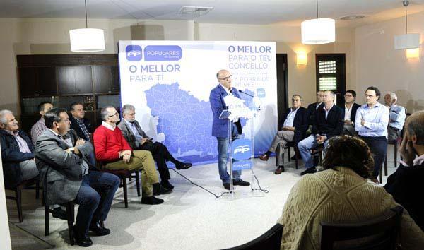 O presidente do PP de Ourense, Manuel Baltar, na clausura do acto./ Foto: Carlos G. Hervella.