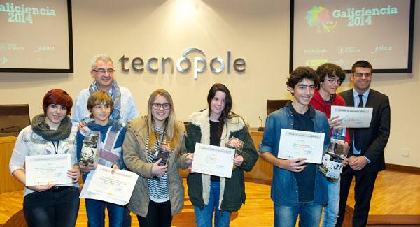 tecnopole : san cibrao das viñas : ourense : 21-11-14 : imaxen da entrega de premios de Galiciencia 2014