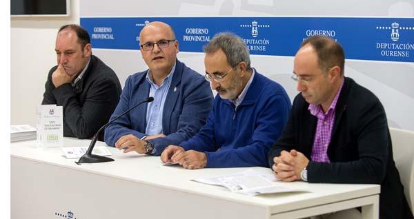 José Luis Troitiña, Manuel Baltar, Javier Casares e José María Faílde, na presentación dos encontros.