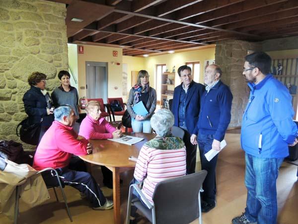 Photo of Xavier Vence, de visita en Allariz