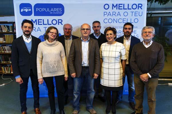 Presentación cabezas de lista da zona de Valdeorras.