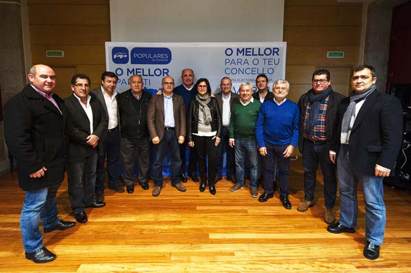 Photo of O PP presenta aos seus candidatos ás municipais na zona electoral de Verín