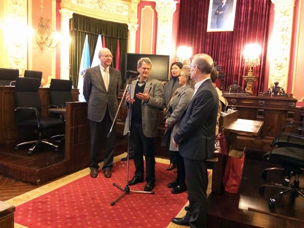 Photo of Ourense recibe a unha delegación de Quimper (Francia)
