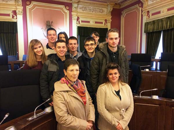Grupo de alumnos de Quimper (Francia).