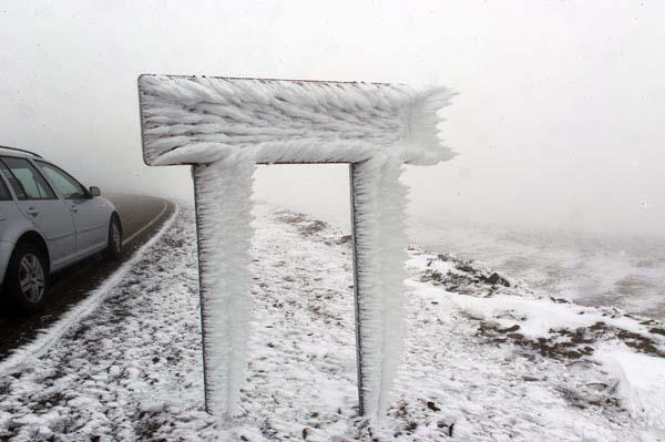 Photo of A neve chega ás montañas ourensás