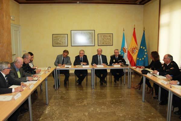 Un dos momentos da reunión da Xunta Local de Seguridade de Ourense.