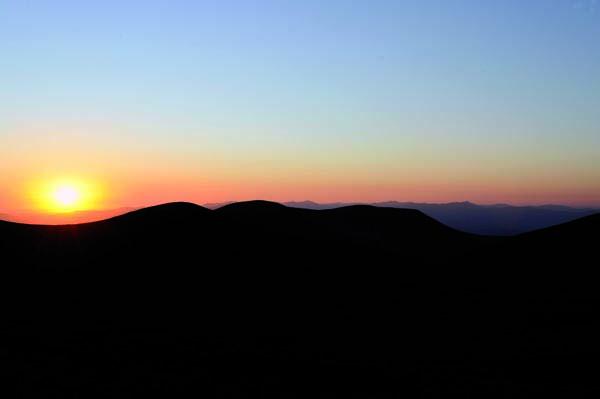 Posta de sol en Trevinca./ Foto: Carlos G. Hervella.