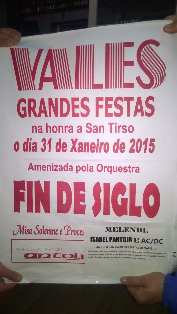 Photo of A orquestra Fin de Siglo amenizará a Festa de Vales