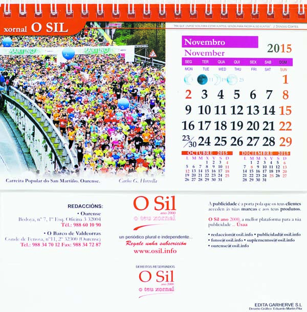 Photo of Reserve xa o calendario 2015 de O Sil no seu quiosco
