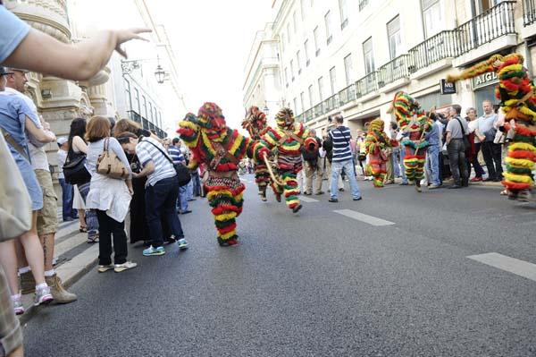 Os caretos son unhas máscaras características da parte norte de Portugal./ Foto: Carlos G. Hervella.