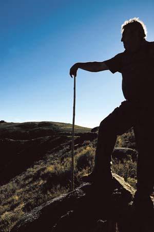 Pastor na serra de Manzaneda./ Foto: Carlos G. Hervella.