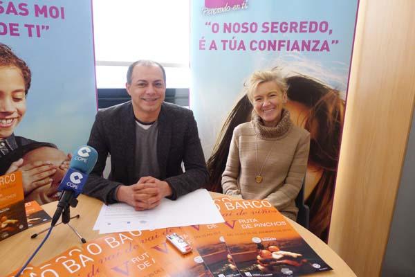 O presidente do Barco CCA, Ángel Álvarez, e a concelleira de Turismo do Barco, Irene Dacal, na presentación./ Foto: Ángeles Rodríguez.