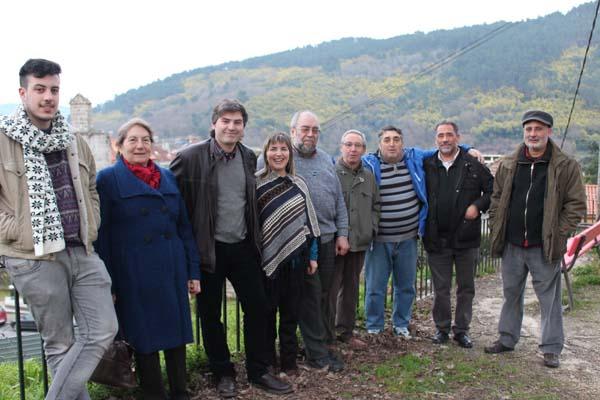 De esquerda a dereita: Luísa Escudero, Anxo Collarte, Maite Rodríguez, Francisco Alonso e Edmundo Araújo.