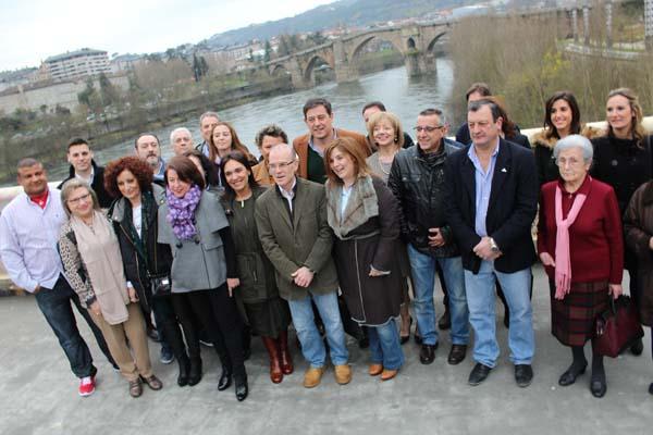 Besteiro, coa candidatura socialista ás municipais na cidade de Ourense.