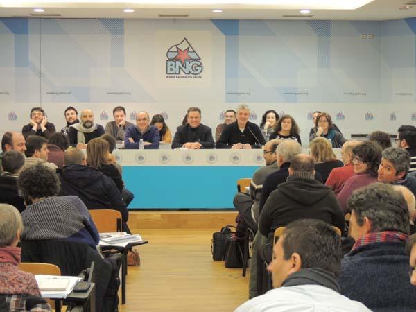 Un dos momentos do Consello Nacional do BNG do 7 de febreiro.