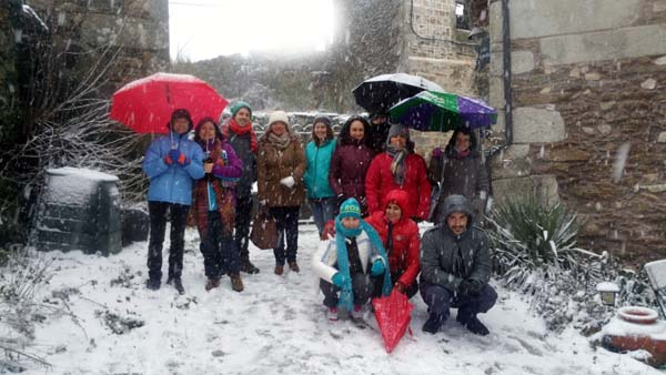 Photo of Fin de semana de inglés e nevada en Valdín (A Veiga)