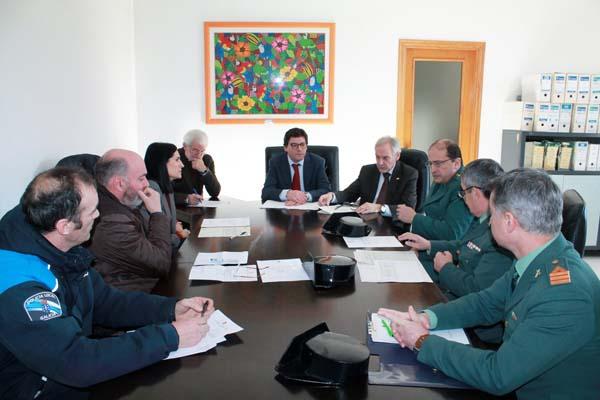 Imaxe da Xunta Local de Seguridade de Viana do Bolo celebrada o 9 de xaneiro.