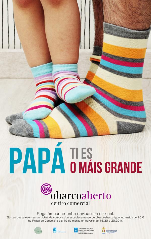 Cartaz da campaña do día do pai do CCA O Barco.