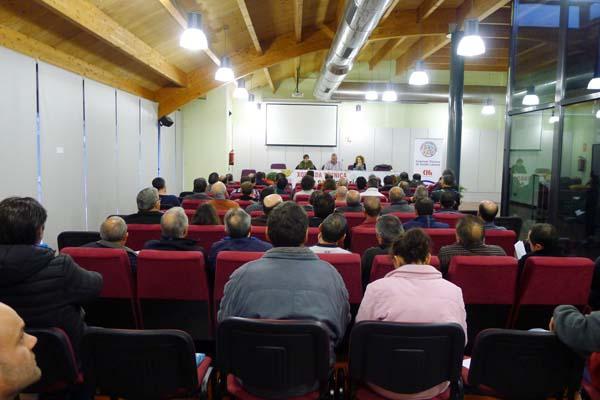 A xornada abordaba a silicose, pero tamén outras enfermidades relacionadas co sector da lousa,/ Foto: Ángeles Rodríguez.